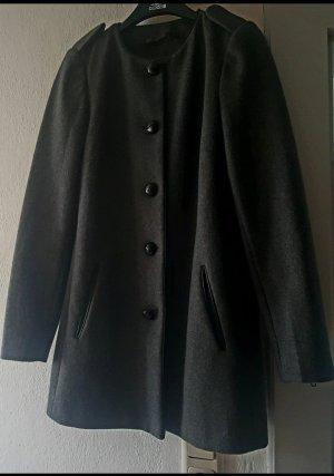 Mango Abrigo de lana gris