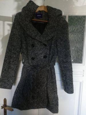 Mexx Manteau en laine gris clair-gris