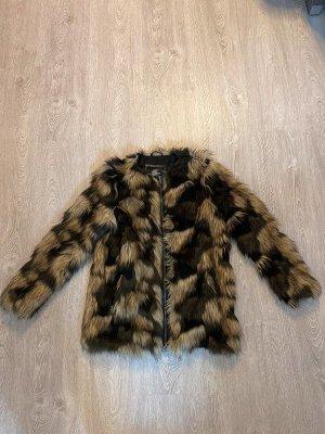pepe jeana london Manteau en fausse fourrure multicolore