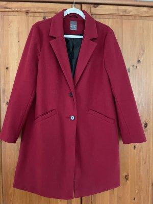 Primark Wool Coat dark red