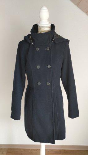 yfl RESERVED Płaszcz z kapturem ciemnoniebieski Poliester