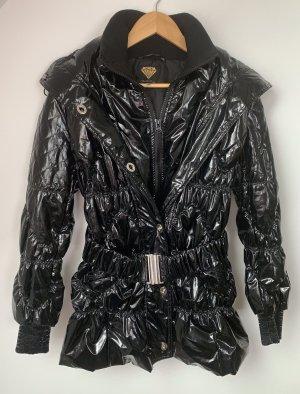 Sarah Kern Pikowany płaszcz czarny Poliester