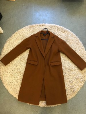 Topshop Płaszcz polarowy cognac-brązowy