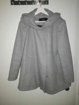 Vera Moda Gabardina tipo vestido gris claro