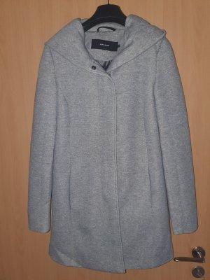 Vera Moda Hooded Coat silver-colored cotton