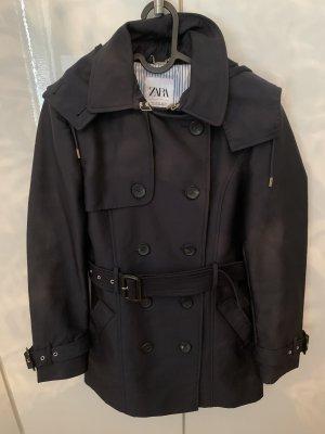 Zara Hooded Coat dark blue