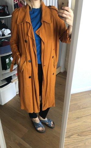 Zara Basic Manteau oversized orange clair