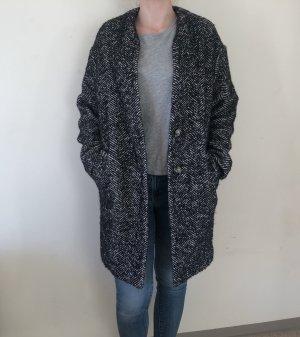 Zara Woman Kurtka oversize Wielokolorowy Tkanina z mieszanych włókien