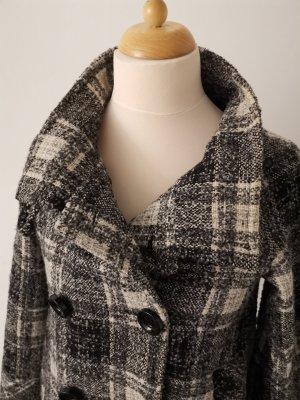 Mantel von Zara, schwarz weiß