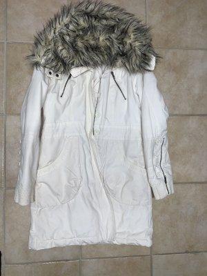 H&M Winter Coat white