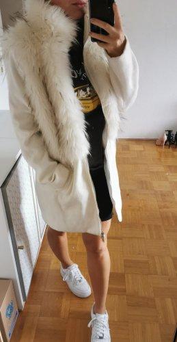Rinascimento Manteau en fausse fourrure blanc tissu mixte