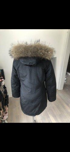 Capuchon jas zwart