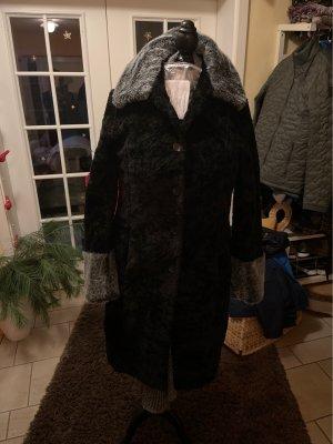 Odyssee Cappotto in eco pelliccia nero-grigio