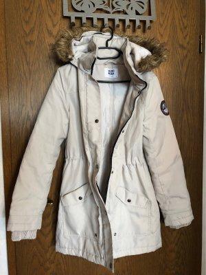 Vero Moda Abrigo con capucha beige claro-blanco puro