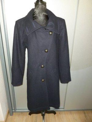 Oui Wool Coat dark blue