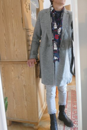 Mantel Wolle nicht kratzend hellgrau neuwertig Marc O´Polo L