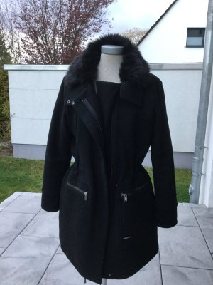 Edc Esprit Wool Coat black synthetic fibre