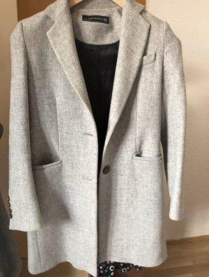 Zara Winter Coat light grey-grey