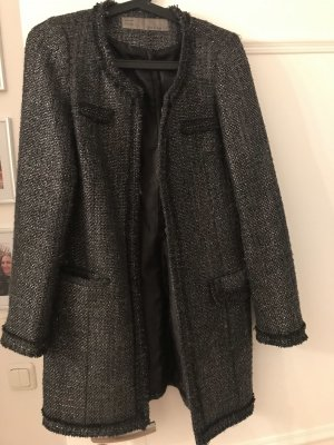 Zara Basic Manteau en laine multicolore