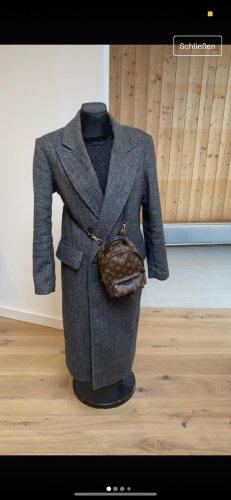 Zara Płaszcz oversize szary-ciemnoszary