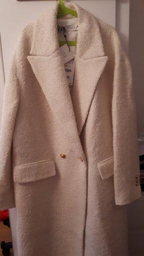 Zara Woman Oversized Coat multicolored cotton