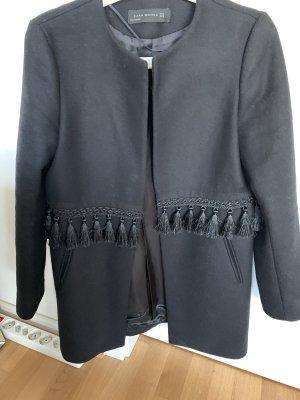 Mantel Zara schwarz