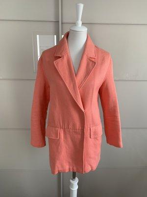 Mantel Zara XS Coral Baumwolle