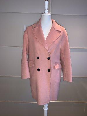 Mantel Zara Xs Wolle Handmade rosa