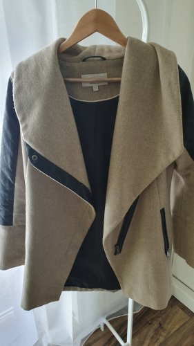 Pea Coat black-beige