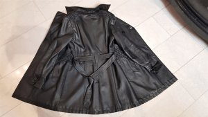 Leather Coat black polyurethane