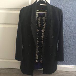 Mantel Zweireiher schwarz Gr S