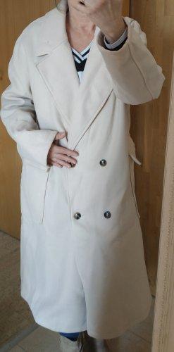 SheIn Cappotto in lana bianco sporco