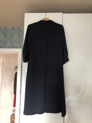 Hennes Collection by H&M Gabardina tipo vestido azul oscuro Poliéster