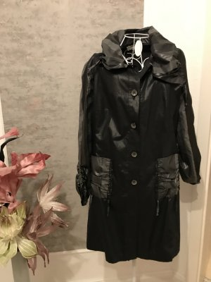 Coat Dress black mixture fibre