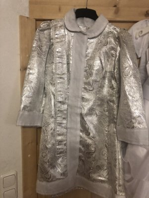 Coat Dress silver-colored-white