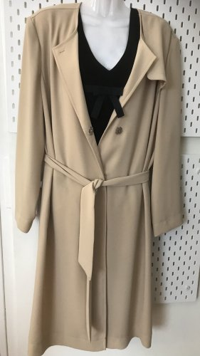 Luisa Cerano Robe manteau beige clair