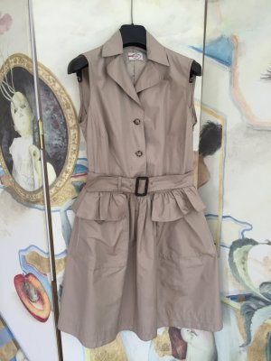 Prada Coat Dress grey brown polyester