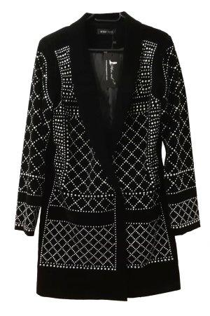 keine Coat Dress black-silver-colored