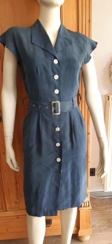 Heine Gabardina tipo vestido azul oscuro