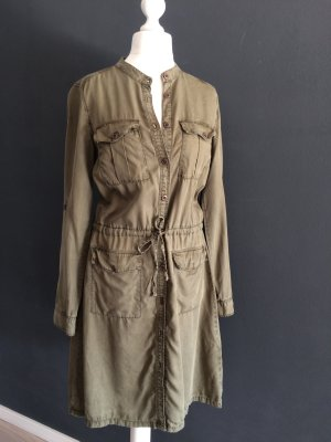H&M L.O.G.G. Coat Dress green grey lyocell