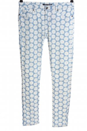MAPP Jeans Five-Pocket-Hose weiß-blau Allover-Druck Casual-Look