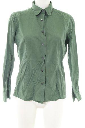 Mara Manzona Langarm-Bluse khaki Webmuster Casual-Look