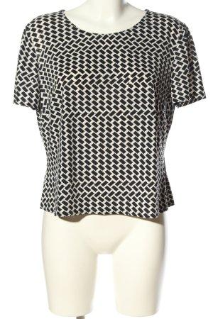 Mara Manzona T-Shirt schwarz-weiß Allover-Druck Casual-Look