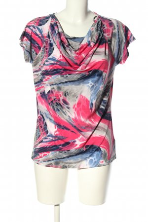 marble Waterval shirt abstract patroon casual uitstraling