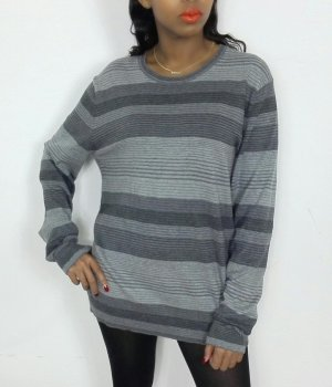 Long Sweater light grey-grey mixture fibre