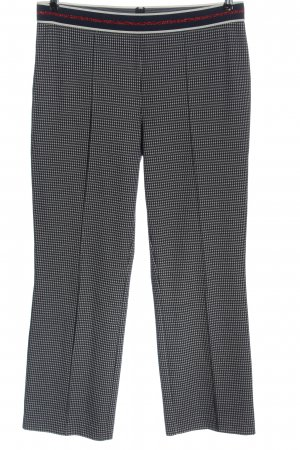 Marc Aurel 7/8 Length Trousers blue-white check pattern casual look