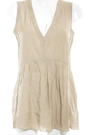Marc Aurel ärmellose Bluse beige-weiß Elegant