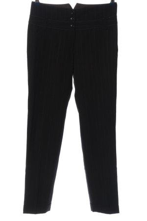 Marc Aurel Anzughose schwarz-weiß Streifenmuster Casual-Look