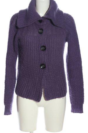 Marc Aurel Cardigan lilac cable stitch casual look