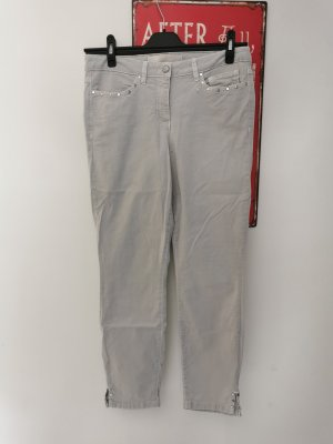 Marc Aurel 7/8 Length Trousers light grey-silver-colored lyocell
